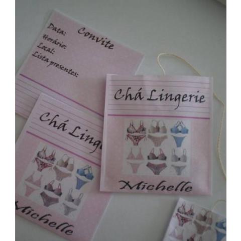 Convite Chá de Lingerie - Embalagem Chá