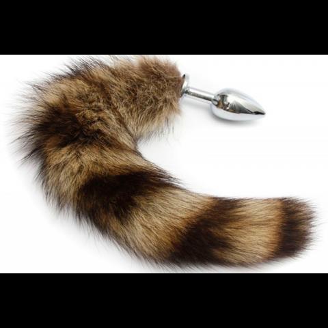 Plug anal Aço com rabo de raposa