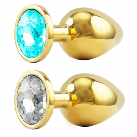 Plug anal dourado com Jóia