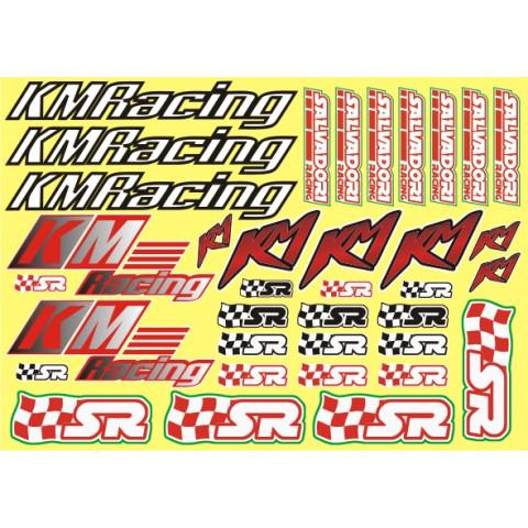 Adesivo Salvadori Racing & KM Racing (folha A4)
