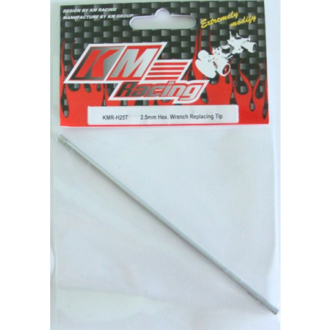 Hex. Wrench 2.5 x 120mm Tip  (Ponta de reposição p/ chave allen 2.5mm KM Racing)