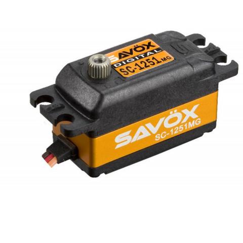 Servo digital SAVOX SC-1251 (Low profile, 6volts, 9kg, 0.09s)
