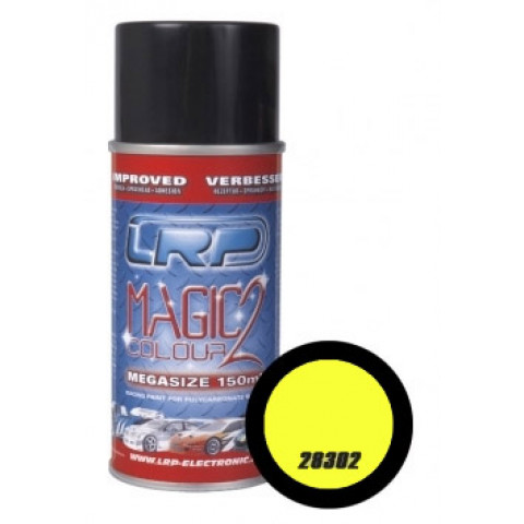 Tinta spray LRP Magic Color 2 - Amarelo Fluorescente