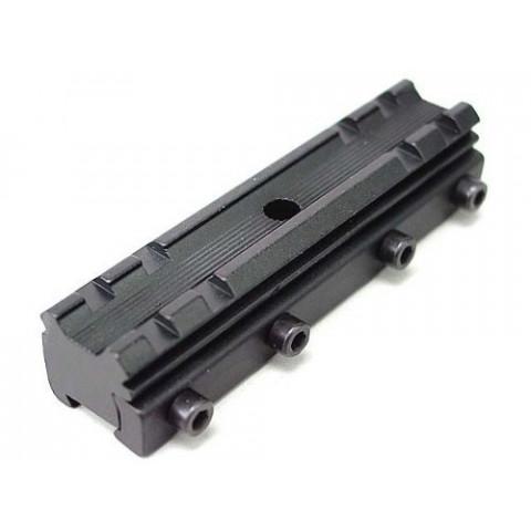 ADAPTADOR PARA TRILHO 11mm EM 20mm COM 5 PONTOS DE TRAVAMENTO