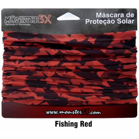 BANDANA MONSTER3X - FISHING RED