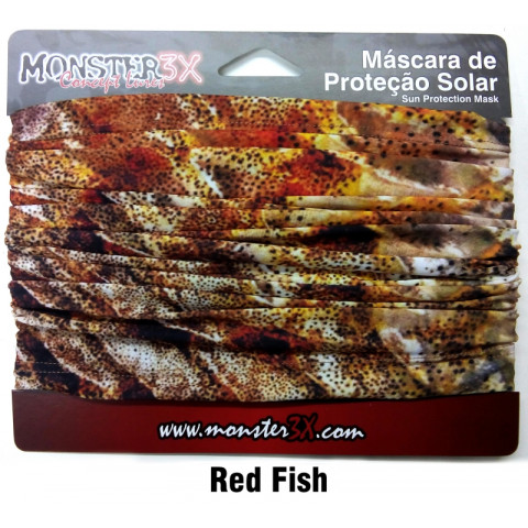 BANDANA MONSTER3X - RED FISH