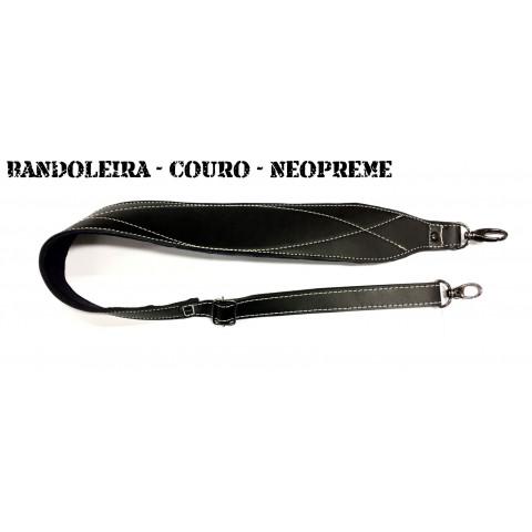 BANDOLEIRA EM COURO ESPECIAL COM FORRO DE NEOPREME (CLIQUE E ESCOLHA A COR)