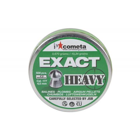 CHUMBINHO JSB COMETA EXACT HEAVY 4,5 mm (.177) - 10,34 GRAINS -  500 UNIDADES