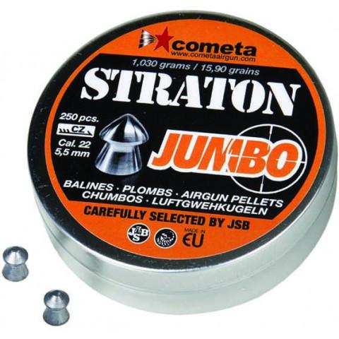 CHUMBINHO JSB COMETA STRATON JUMBO 5,5 mm (.22) - 15,9 GRAINS - 250 UNIDADES