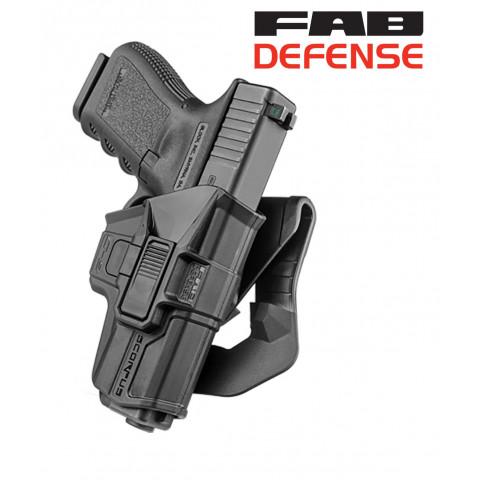COLDRE ROTATIVO COM TRAVA FAB DEFENSE - ISRAELENSE - GLOCK .380ACP / .40 SW / 9mm (exceto G42) -