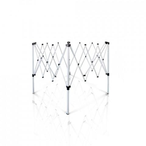 ESTRUTURA DE ALUMÍNIO ARTICULADO PARA TENDA GAZEBO (2,40mts x 2,40mts)