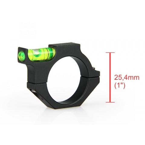 """NIVEL BOLHA PARA LUNETA COM TUBO DE 25,4mm (1"""")"""