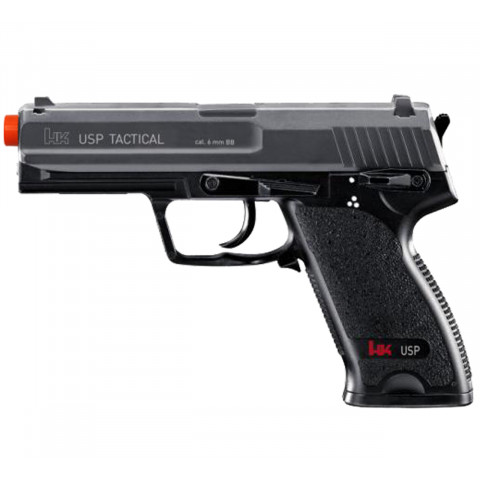 PISTOLA AIRSOFT AEG USP TATICAL HK FULL METAL 6mm UMAREX - ELÉTRICA (110 Volts)
