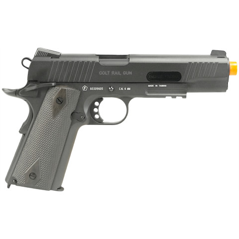 PISTOLA AIRSOFT CO2 COLT 1911 RAIL GUN SERIES FULL METAL BLOWBACK - BLACKENED