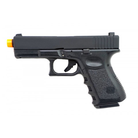 PISTOLA AIRSOFT GREEN GÁS GLOCK KJW G23 POLÍMERO GBB 6mm - KJ WORKS - COM BLOWBACK
