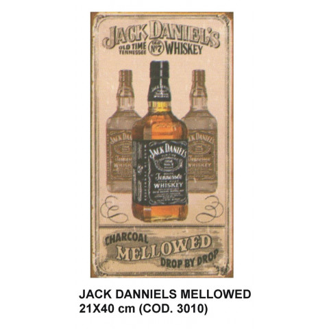 PLACA DECORATIVA ESTILO RETRÔ - JACK DANNIELS MELLOWED