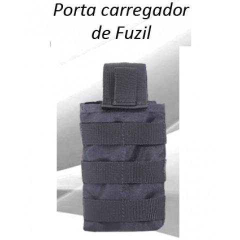 PORTA CARREGADOR FUZIL MODULAR CIA MILITAR - PRETO
