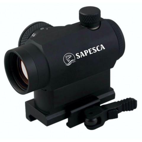 MIRA HOLOGRÁFICA RED DOT SAPESCA 1x22mm AR PARA TRILHO 20mm