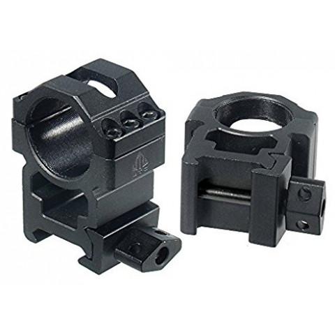 SUPORTE / ANEL PARA LUNETA DE 25,4mm PARA TRILHO DE 20mm ALTO - UTG - ENGATE RÁPIDO - RG2W1206