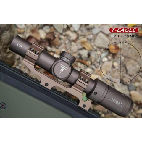 LUNETA T-EAGLE ER 1.2-6x24 IR PARA TAURUS T4 - AR15 - M4 - M16