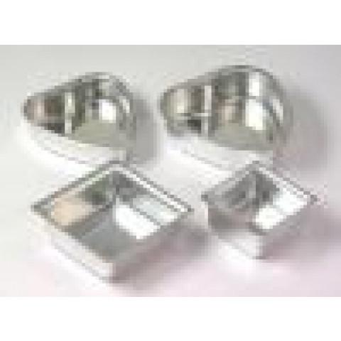Formas para Pão de mel Quadrado - Aluminio