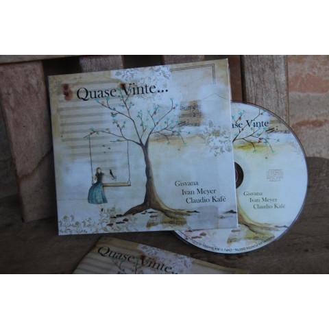 """CD """"QUASE VINTE..."""" Gênero MPB - Gisvana, Ivan Meyer e Claudio Kafé ( Cd de Áudio ) Clique aqui para saber mais"""