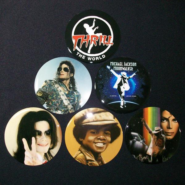 Conjunto de 6 Porta Copos Resinado com Ímã Michael Jackson
