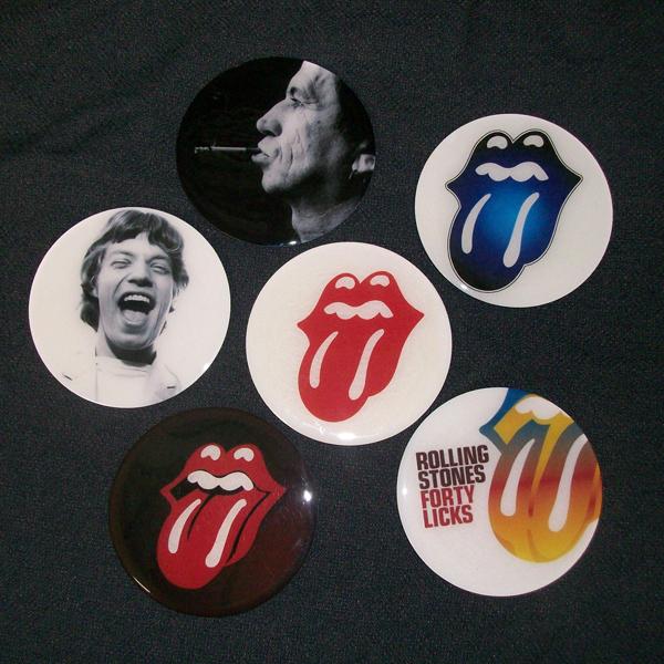 Conjunto de 6 Porta Copos Resinado com Ímã The Rolling Stones
