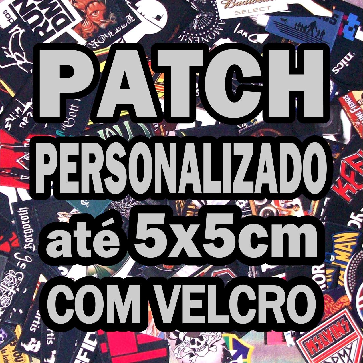 PATCH COM VELCRO PERSONALIZADO ATÉ 5x5CM