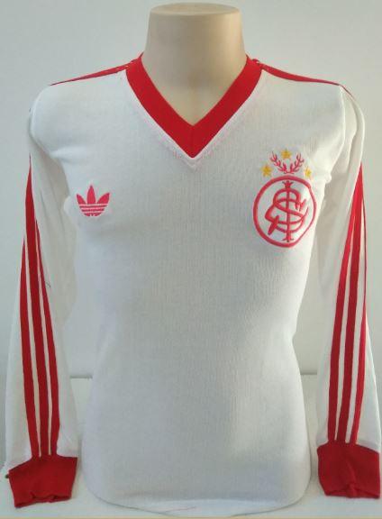 Camisa retrô do Internacional 1981 Branca Manga Longa - Confecção em até 18 dias