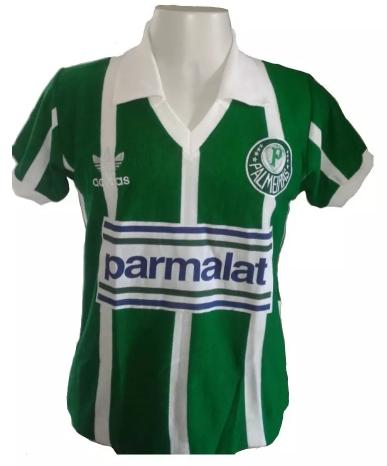 Camisa retrô do Palmeiras 1992 Parmalat - Confecção em até 18 dias úteis.
