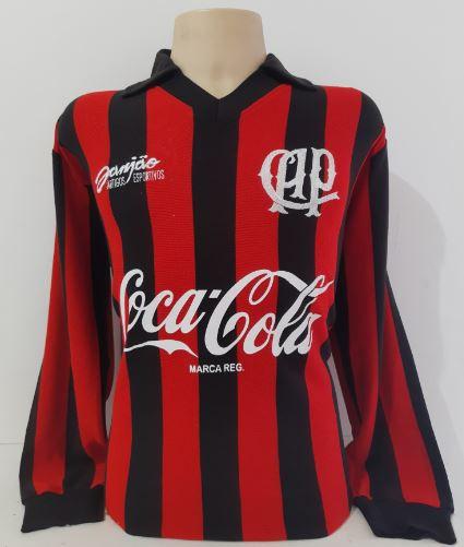 Camisa Retrô do Athletico Paranaense 1993 Manga Longa - Confecção em até 18 dias úteis.