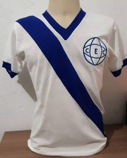 Camisa Retrô do Criciúma (Comerciario) Branca - Confecção em até 18 dias úteis.