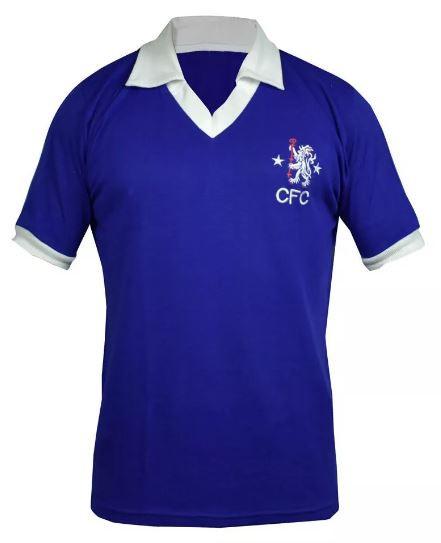 Camisa Retrô do Chelsea - Confecção em até 18 dias úteis.