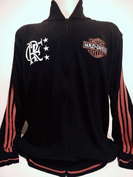 Agasalho retrô do Flamengo Harley Davidson - confecção em até 18 dias úteis.