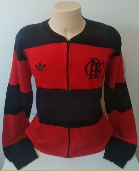 Agasalho retrô do Flamengo Rubro Negro - Confecção em até 18 dias úteis.