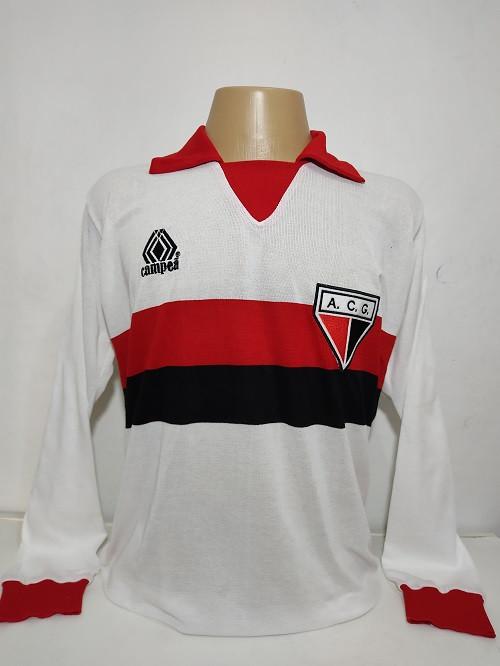 Camisa retrô do Atlético Goianiense logo Campeã Manga Longa- Confecção em até 18 dias uteis