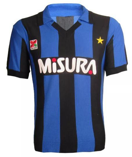 Camisa Retrô da Inter de Milão 1989 - Confecção em até 18 dias úteis.