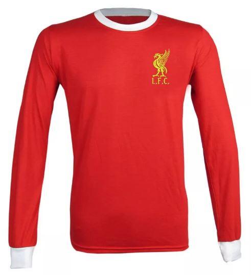 Camisa Retrô do Liverpool Manga longa - Confecção em até 18 dias úteis.