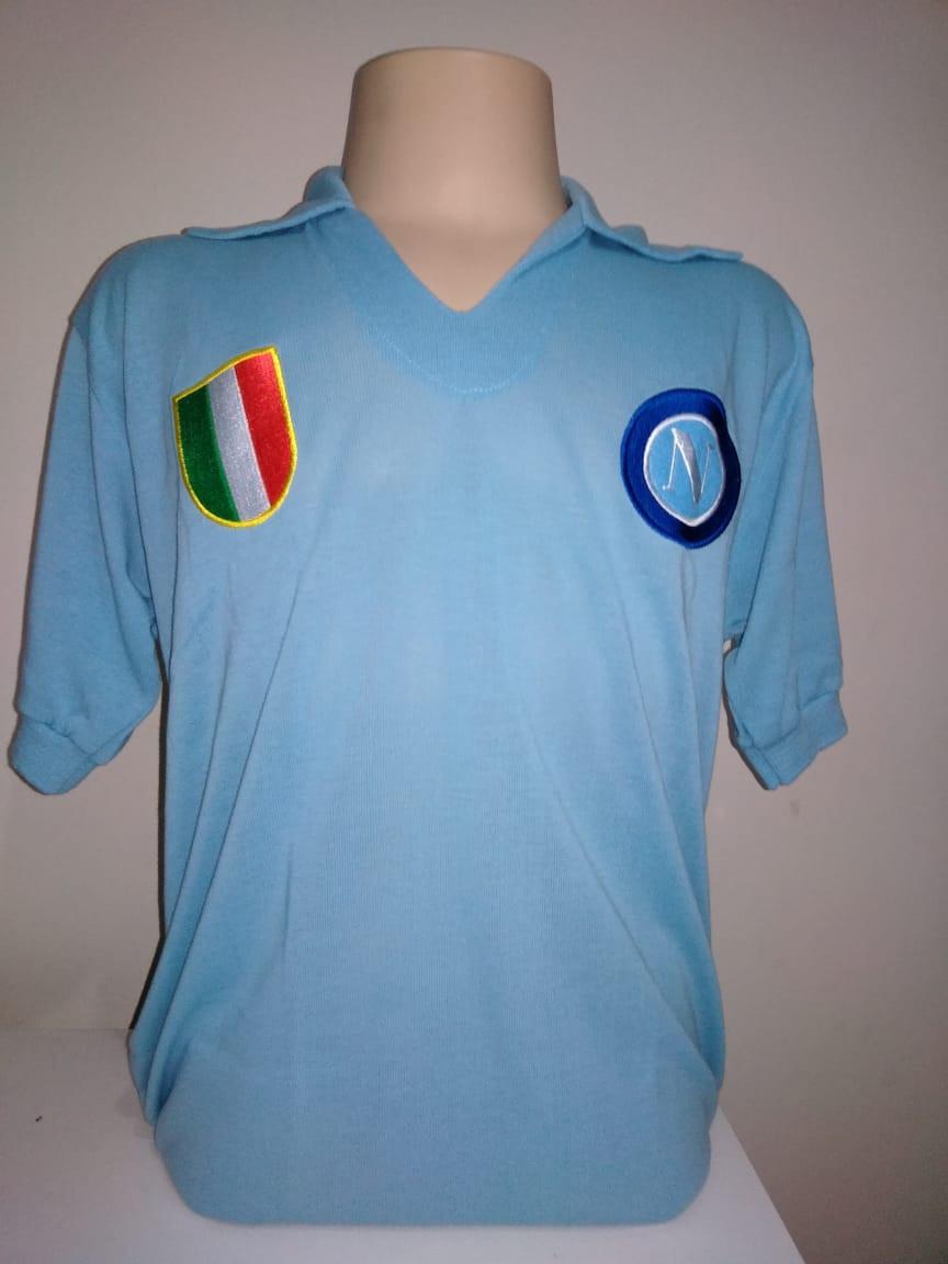 Camisa Retrô do Napoli - Confecção em até 18 dias úteis.