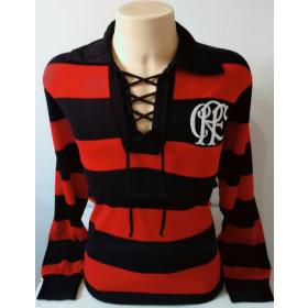 Camisa Retrô do Flamengo 1916 Manga longa - Confecção em até 18 dias úteis.