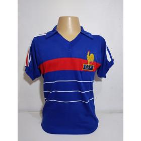 Camisa Retrô da Seleção da França 1984 - Confecção em até 18 dias úteis.