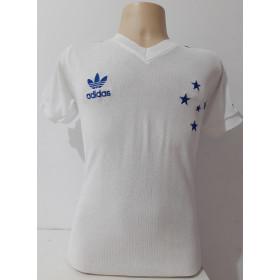 Camisa retrô do Cruzeiro 1987 Branca - Confecção em até 18 dias