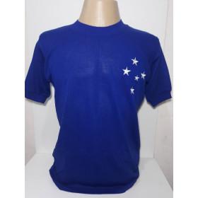 Camaisa retrô do Cruzeiro 1966 azul - Confecção em até 18 dias