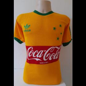 Camisa Retrô do Cruzeiro Amarela Coca cola - Confecção em até 18 dias úteis.