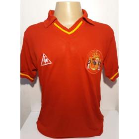 Camisa Retrô da Seleção da Espanha - Confecção em até 18 dias úteis.