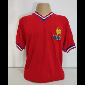 Camisa Retrô da Seleção da França 1975 - Confecção em até 18 dias úteis.