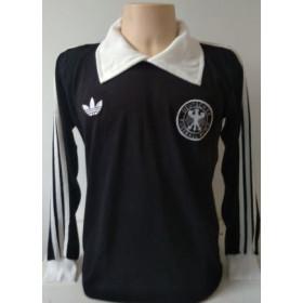 Camisa Retrô da Seleção da Alemanha Goleiro - Confecção em até 18 dias úteis.