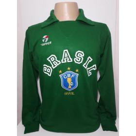 Camisa Retrô da Seleção Brasileira verde 1990 - Confecção em até 18 dias úteis.