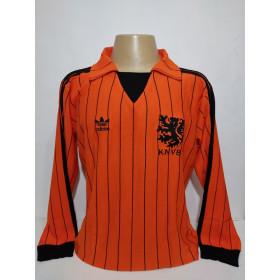 Camisa Retrô da Seleção da Holanda 1982 manga longa - Confecção em até 18 dias úteis.